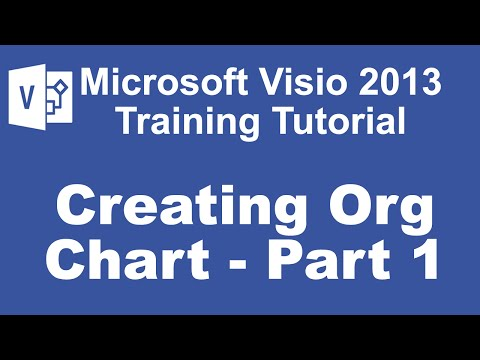 Microsoft Visio 2013 Training Tutorial - How to Create an Org Chart Using Visio 2013
