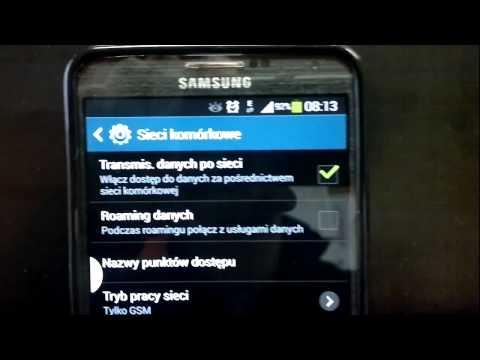 Samsung GALAXY Note 3 zmiana trybu sieci LTE 4G 3G 2G