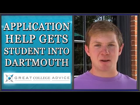 Application Help From a College Expert Gets Students Into Dartmouth