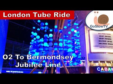 London Underground Tube Ride | O2 to Bermondsey | Jubilee Line | Slow TV | Episode 24