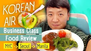 Download Korean Airlines Business Class FOOD REVIEW! WORST Food Menu New York to Manila Video