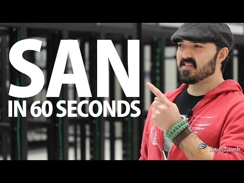 Storage Area Network (SAN) Storage Explained in 60 Seconds