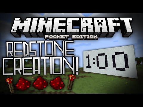 REDSTONE TIMER & PASSCODE LOCK in MCPE!!! - Redstone Creations - Minecraft Pocket Edition