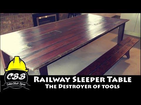 Epoxy & Railway Sleeper Table - The Destroyer of Tools