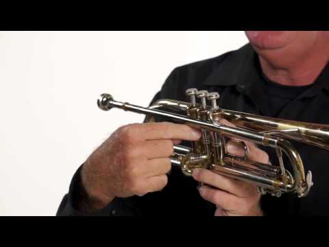 (10/35) Beginning Trumpet - How to Hold the Trumpet
