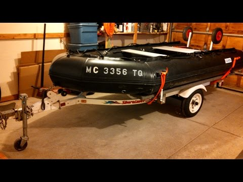Inflatable Boat Trailer (Made From a PWC trailer)