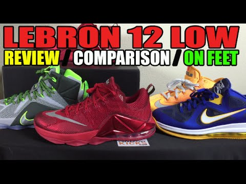 Nike LeBron 12 Low  All Over Red  - Review   On Feet - Lebron 12 Low 7e7fa56e7