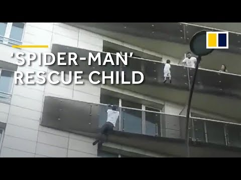 Happy ending for 'Spider-Man' in France who climbed building to save child