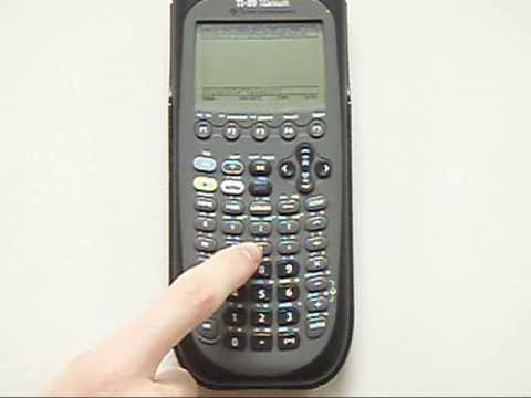 How to integrate and differentiate using the TI-89