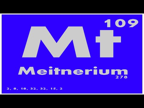 STUDY GUIDE: 109 Meitnerium | Periodic Table of Elements