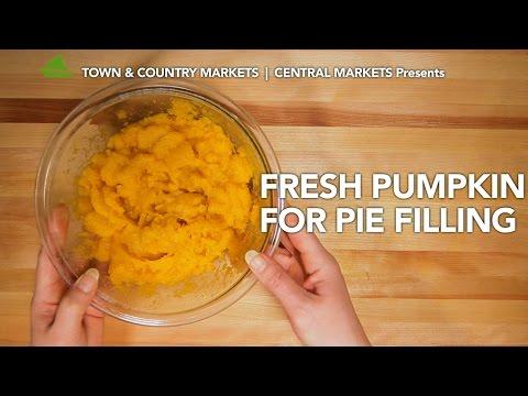 Fresh Pumpkin for Pie Filling
