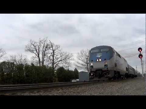 HD: Amtrak 57 & 464 at West Hartford, CT 4/1/12