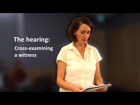 LawAccess NSW - The hearing: Cross-examining a witness