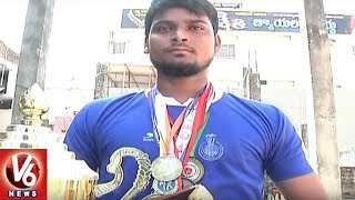 Special Story On National Level Kick Boxing Gold Medalist Arshad   Bhadradri Kothagudem   V6 News