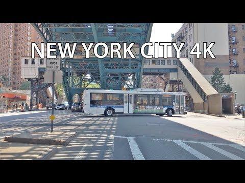 Driving Downtown - NYC's Harlem 4K - New York City USA