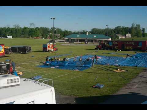 Kelly Miller Circus Tent raising 5-13-2016