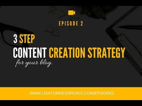 [EP: 2] 3-Step Content Creation Strategy Plan For Your Blog