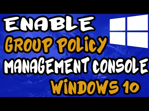 Group policy management console windows 10   How to Enable it