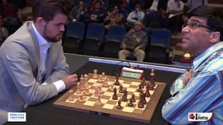 Magnus Carlsen vs Vishy Anand | Tata Steel Chess India Rapid 2019