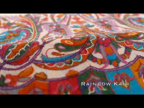Rainbow Kani Pashmina Shawl