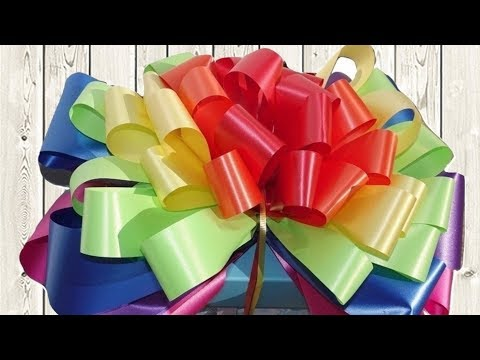 Rainbow Gift Bow In 5 Minutes Step By Step