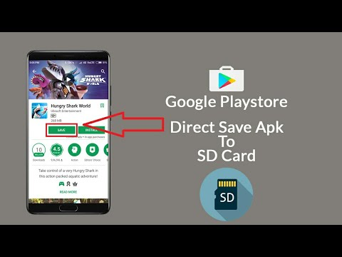 How To Save Google Playstore Downloaded Apps On SD Card 2017🔥