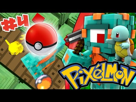 POKEBALLS AND PIKACHU! | Pixelmon Survival Episode 4!