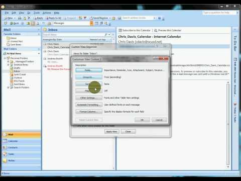 Outlook 2007 - Custom Views