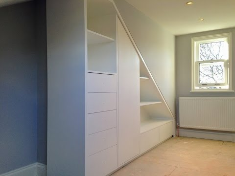 How to build a fitted loft wardrobe - A must see time lapse  video.