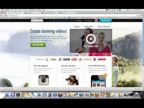 How To Make A Video Using Photos (Instagram and Animoto)