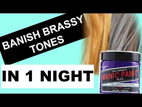 How To Tone Blonde Hair Using MANIC PANIC