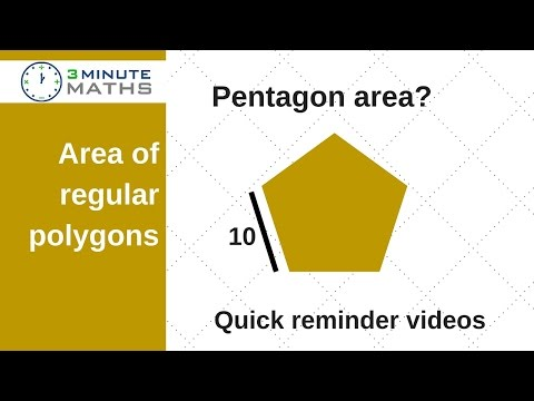 Area of a pentagon with regular sides - GCSE maths level 6