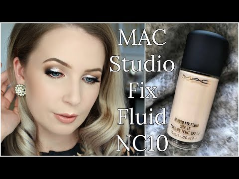 MAC Studio Fix Fluid NC10 Review on PALE SKIN | Compare, Swatches, Demo