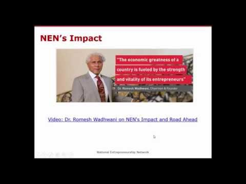 NEN Faculty Webinar on Orientation to Entrepreneurship