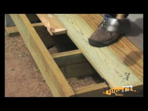 Installation instructions for Treated lumber decking
