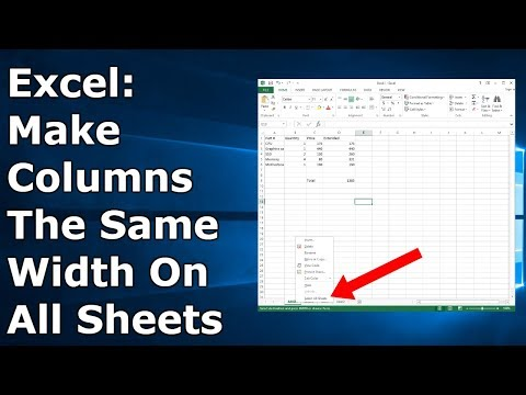 How To Make Columns The Same Size In Excel