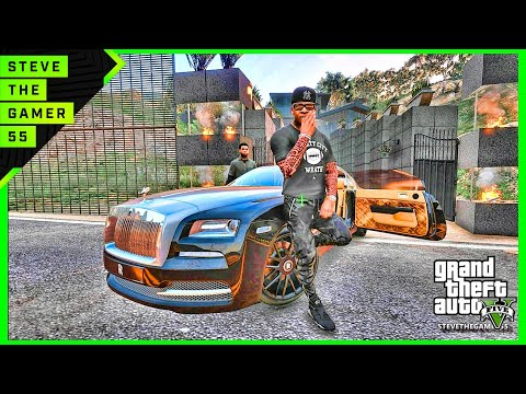 GTA 5 MOD#194 LET'S GO TO WORK NEW MANSION !! (GTA 5 REAL LIFE MOD)