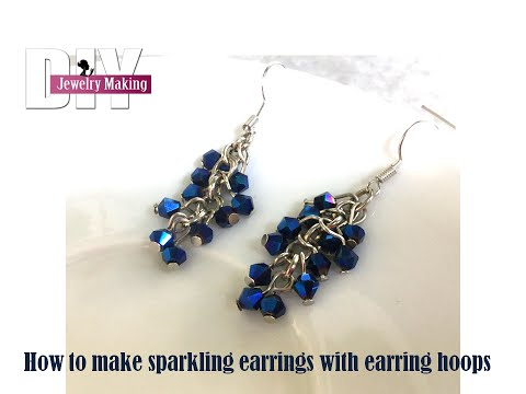 How to make dangling sparkling earrings