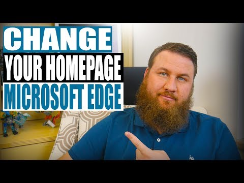How to Change your Homepage in Microsoft Edge 2018