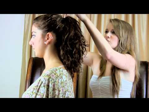 Ponytail Hairstyles Tutorial with Feathers