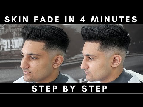 HOW TO SKIN FADE IN 4 MINUTES || HOW TO FADE STEP BY STEP || MY FADING TECHNIQUE EXPLAINED
