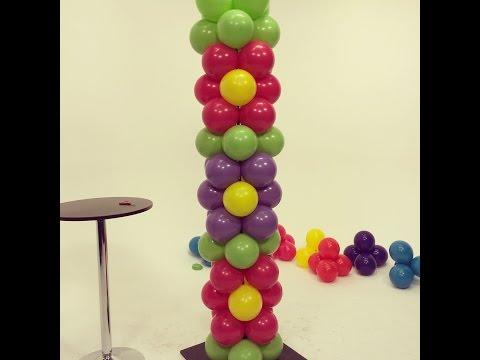Balloon Flower Power Tower - DIY Tutorial