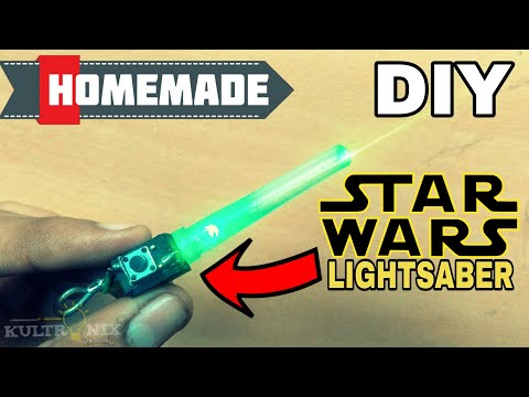 HOW TO MAKE STAR WARS LIGHTSABER | DIY GLOWING STARWARS SWORD | VERY EASY AND SIMPLE HOMEMADE IDEA
