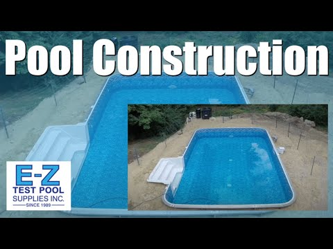 In-Ground Pool Construction Groveland, MA - Steel Wall Pool with Walk In Stairs