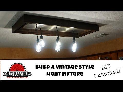 DIY Vintage Style Kitchen Light [Tutorial]