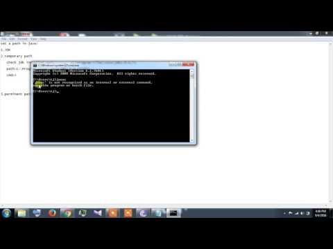 JAVA PROGRAMMING setting Java path temporary and permanent part1