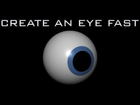 How to create an Eye in Maya Under 3 Minutes - Quick Tip Tutorial for Beginners HD