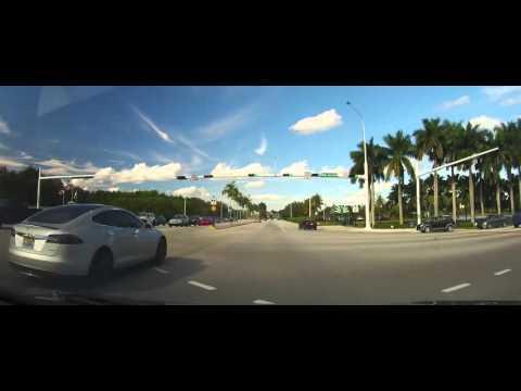 Driving around Weston, Florida in Broward County