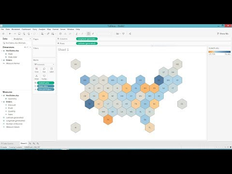 Create a Hex Map in Tableau the Easy Way