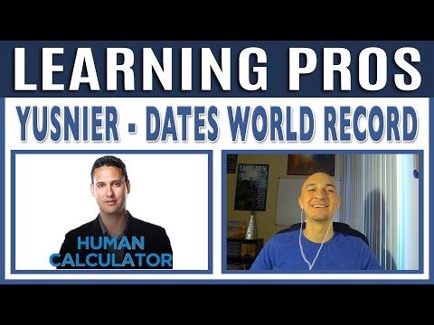 📆  Calendar Dates Record Holder, Yusnier | Learning Pros w/ Luis Angel | Mental Math Calculator